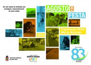 Programação Oficial do Mês do Município 2014 - Santa Rosa (frente)