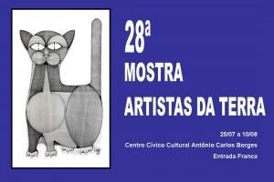 28ª Mostra Artistas da Terra - cartaz (desenho de Valdir Dani)