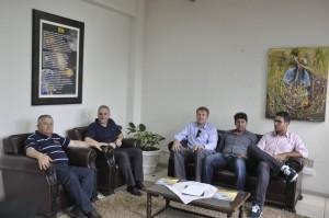 Secretário Idílio foi recepcionado pelo prefeito Benvegnú e secretário Rufino