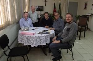 Momento da assinatura do contrato entre Cine Globo e Prefeitura de Santa Rosa