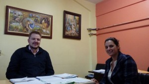 Secretário de Cultura Rafael Rufino e a escritora Débora Rodrigues Martin