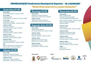 Conferência Municipal de Esportes de Santa Rosa - programação