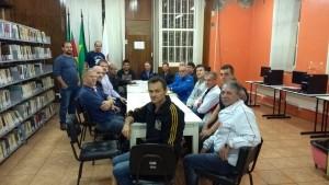 Reunião que definiu os detalhes do Campeonato Municipal de Futebol de Campo 2017 Veterano e Master