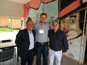 Antônio Bertini, Rafael Rufino e Marcelo Puppi (prefeito de Campo Largo)